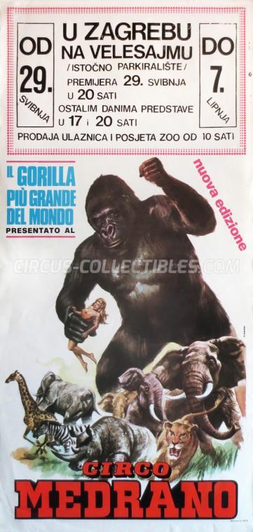 Medrano (Casartelli) Circus Poster - Italy, 1975