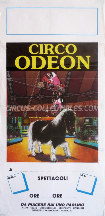 Odeon Circus Poster - Italy, 1992