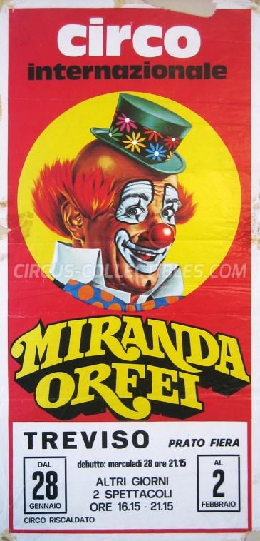 Miranda Orfei Circus Poster - Italy, 1987