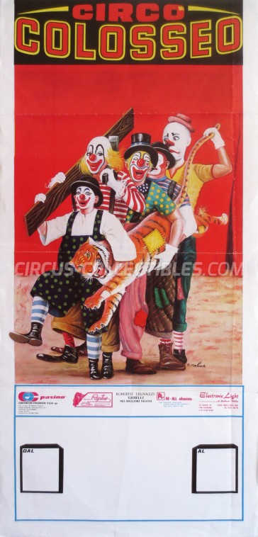 Colosseo Circus Poster - Italy, 1988