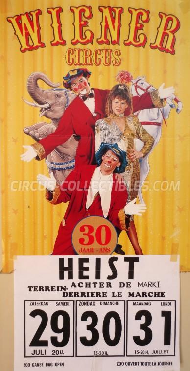 Wiener Circus Circus Poster - Belgium, 1995