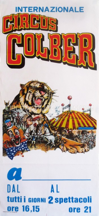 Colber Circus Poster - Italy, 1988