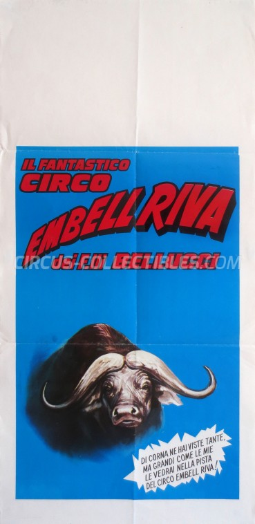 Embell Riva Circus Poster - Italy, 1988