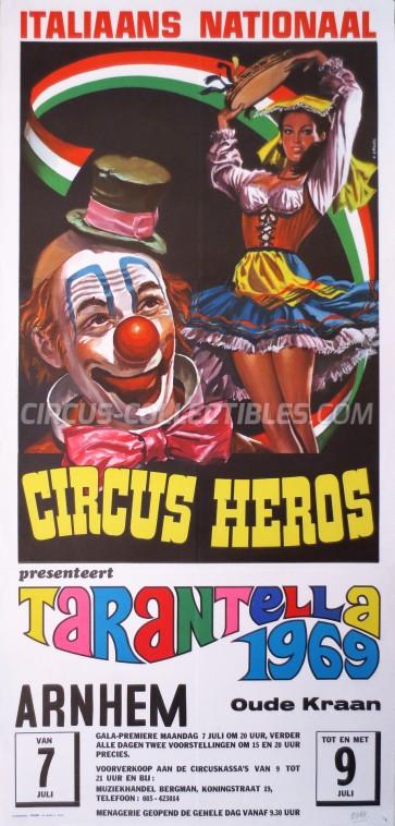Heros Circus Poster - Italy, 1969