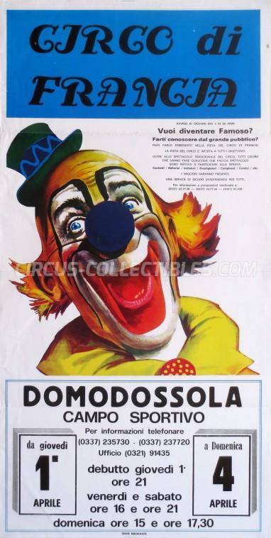 Circo di Francia Circus Poster - Italy, 1993