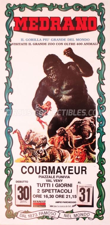 Medrano (Casartelli) Circus Poster - Italy, 1989