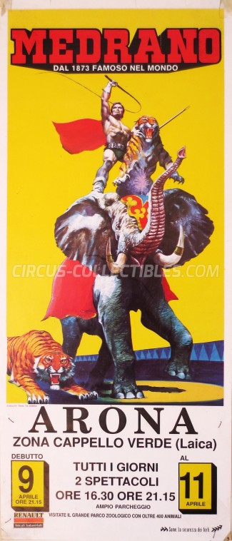 Medrano (Casartelli) Circus Poster - Italy, 1989