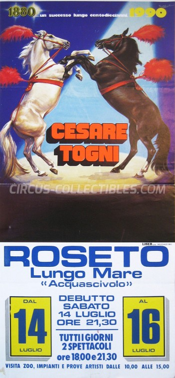 Cesare Togni Circus Poster - Italy, 1990