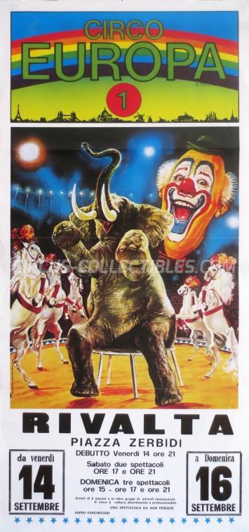 Europa 1 Circus Poster - Italy, 1990