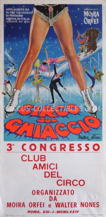Moira Orfei Circus Poster - Italy, 1974