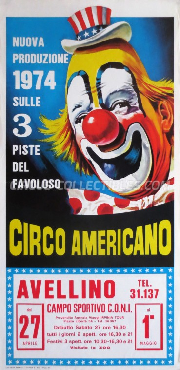 American Circus Circus Poster - Italy, 1974