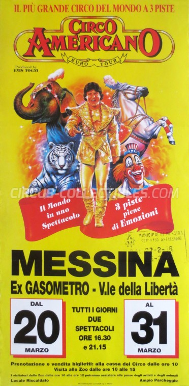 American Circus Circus Poster - Italy, 1996