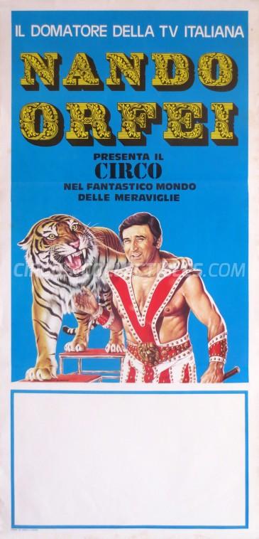 Nando Orfei Circus Poster - Italy, 1980