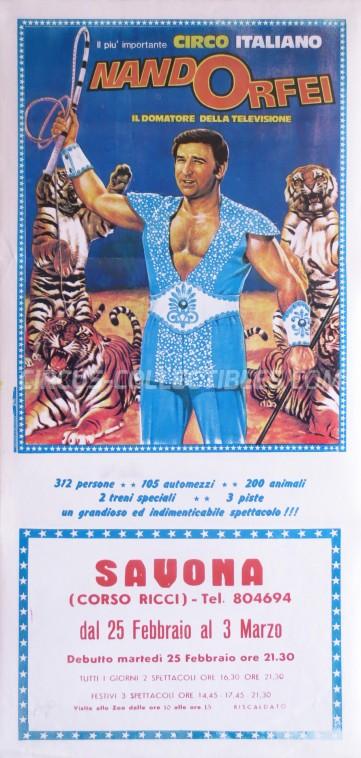 Nando Orfei Circus Poster - Italy, 1986