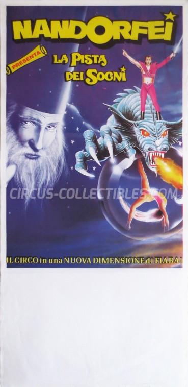 Nando Orfei Circus Poster - Italy, 1989