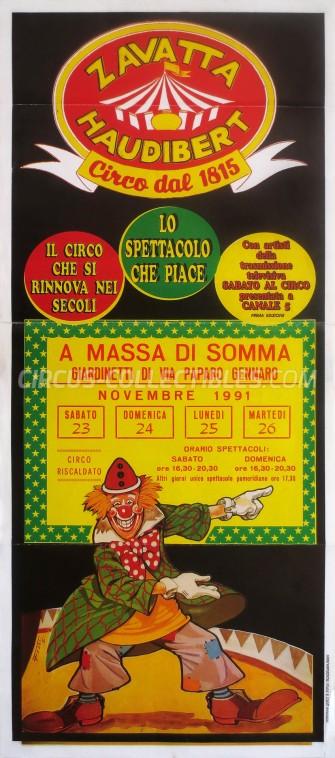 Zavatta Haudibert Circus Poster - Italy, 1991