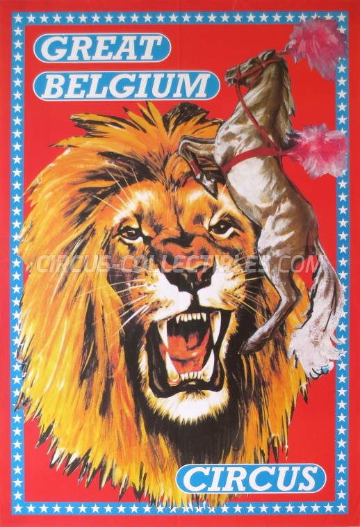 Great Belgium Circus Circus Poster - Belgium, 0