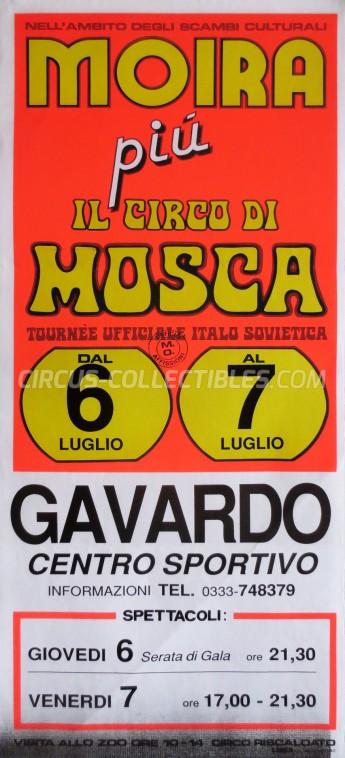 Moira Orfei Circus Poster - Italy, 1989