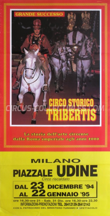 Tribertis Circus Poster - Italy, 1994