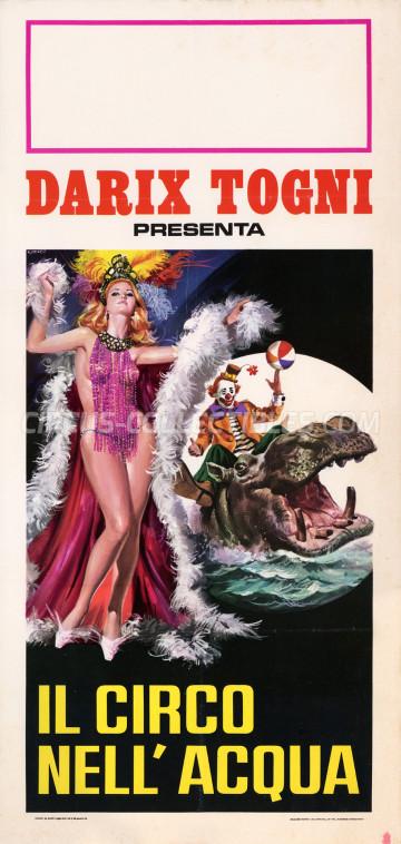 Darix Togni Circus Poster - Italy, 1971