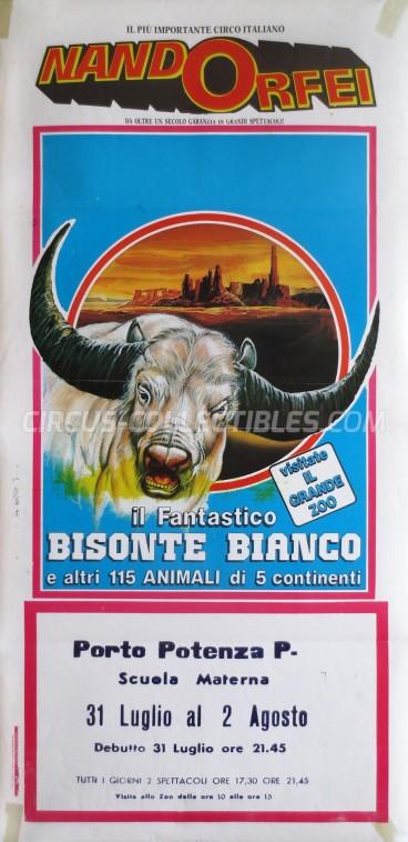 Nando Orfei Circus Poster - Italy, 0