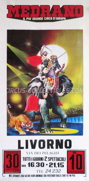 Medrano (Casartelli) Circus Poster - Italy, 1984