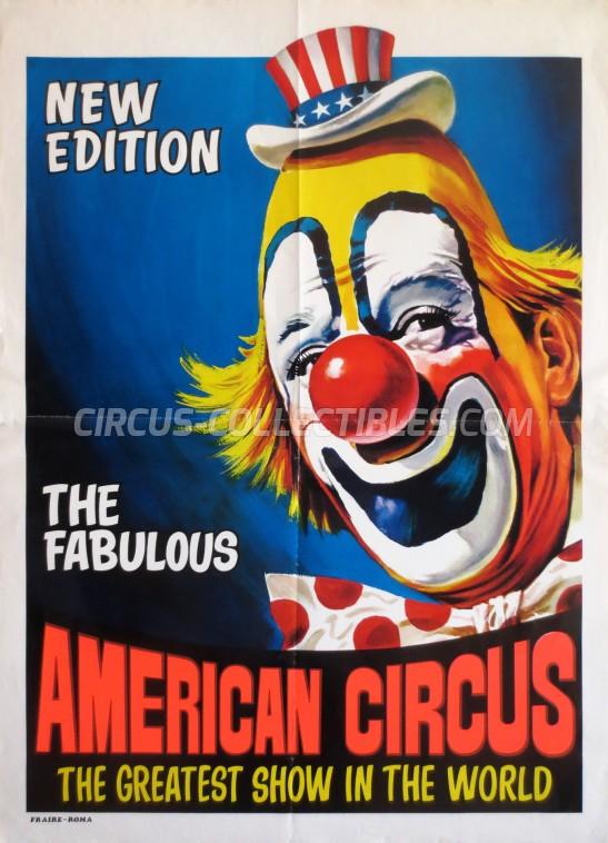 American Circus Circus Poster - Italy, 1970