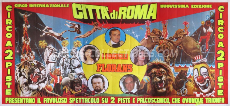 Citta' di Roma Circus Poster - Italy, 1986