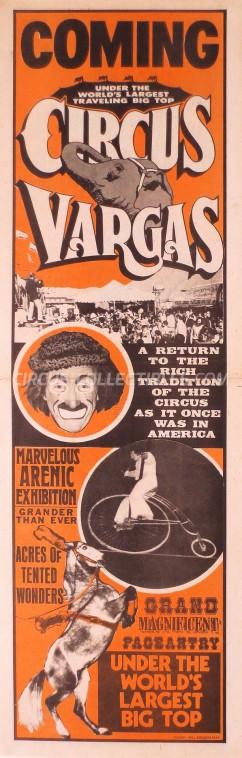 Vargas Circus Poster - USA, 1977