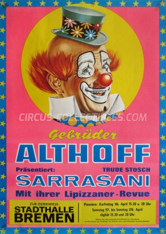 Gebrüder Althoff Circus Poster - Germany, 1976
