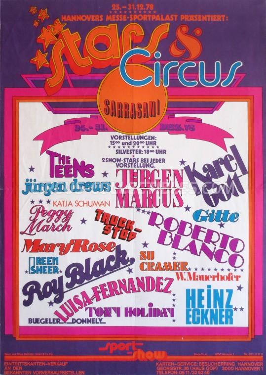 Sarrasani Circus Poster - Germany, 1978