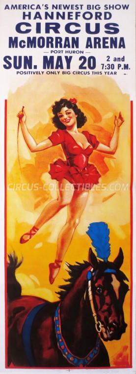 Hanneford Circus Circus Poster - USA, 1973