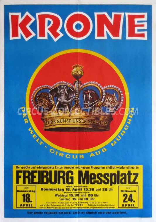 Krone Circus Poster - Germany, 1985