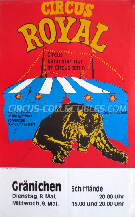 Royal (CH) Circus Poster - Switzerland, 1984