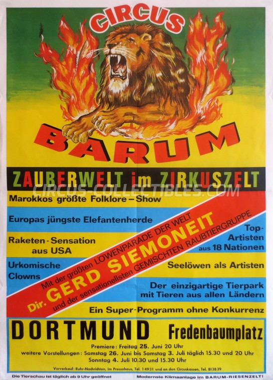 Barum Circus Poster - Germany, 1976