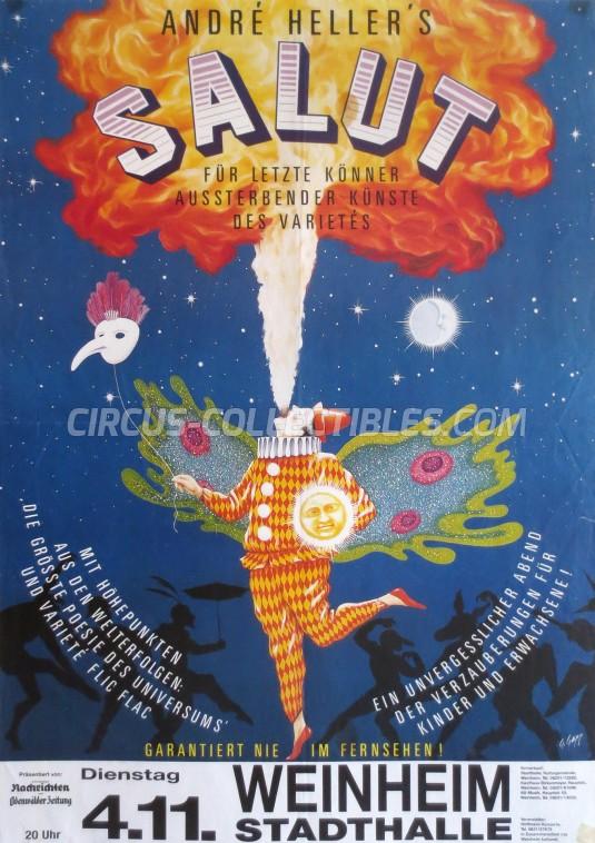 Salut Circus Poster - Germany, 1986