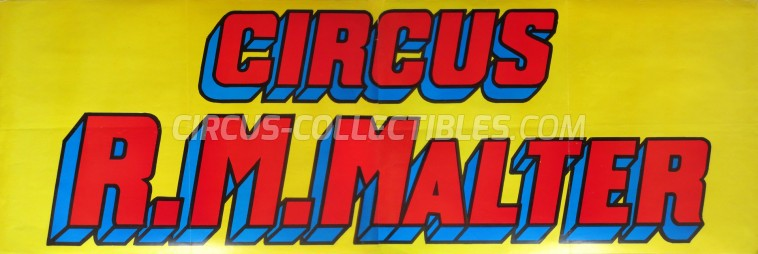 R.M. Malter Circus Poster - Belgium, 1989