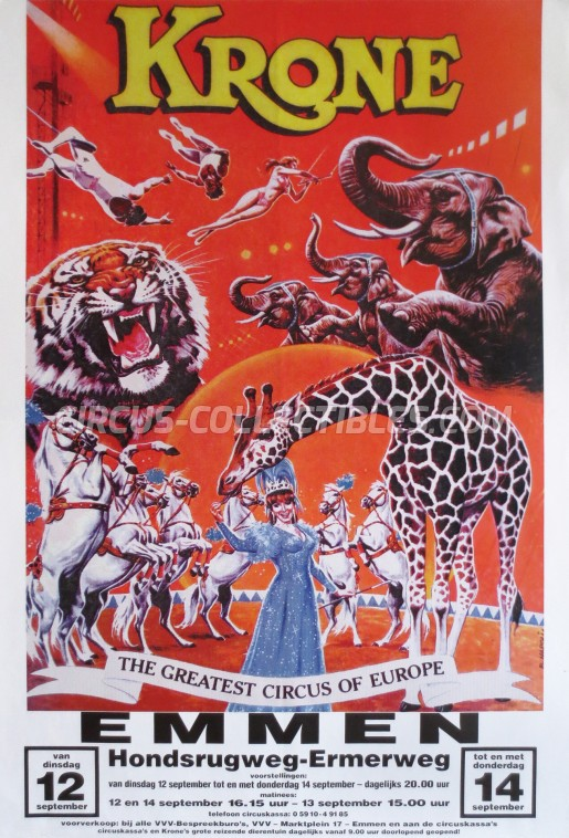 Krone Circus Poster - Germany, 1995