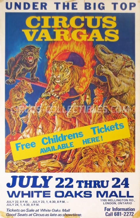 Vargas Circus Poster - USA, 0