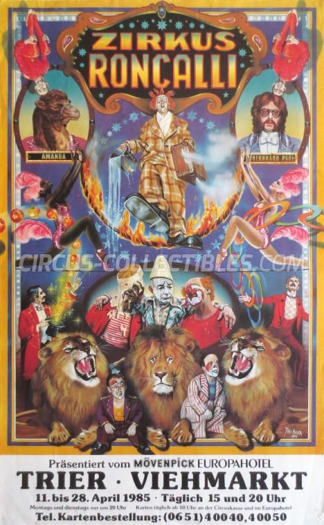 Roncalli Circus Poster - Germany, 1985