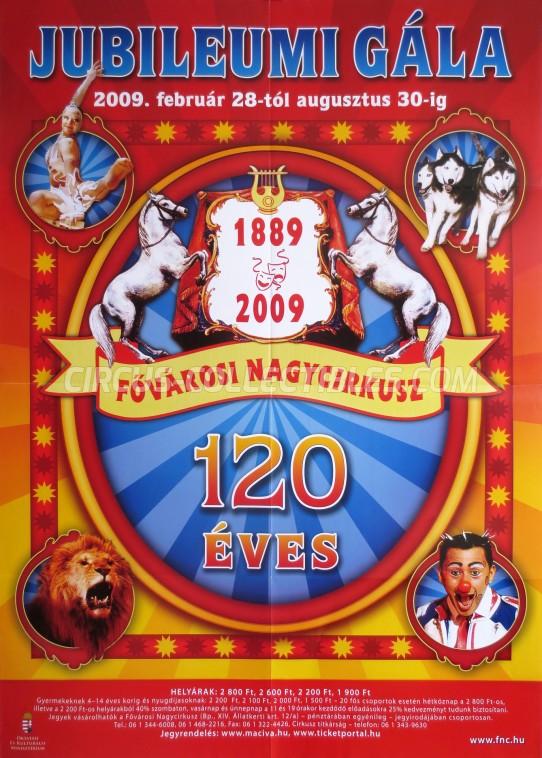 Fovarosi Nagycirkusz Circus Poster - Hungary, 2009