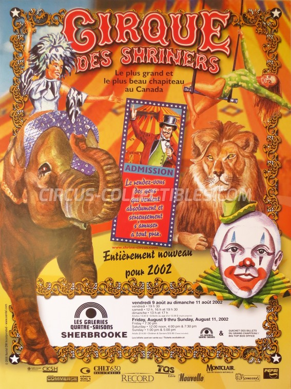 Shrine Circus Circus Poster - Canada, 2002