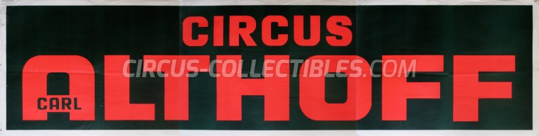 Carl Althoff Circus Poster - Germany, 0