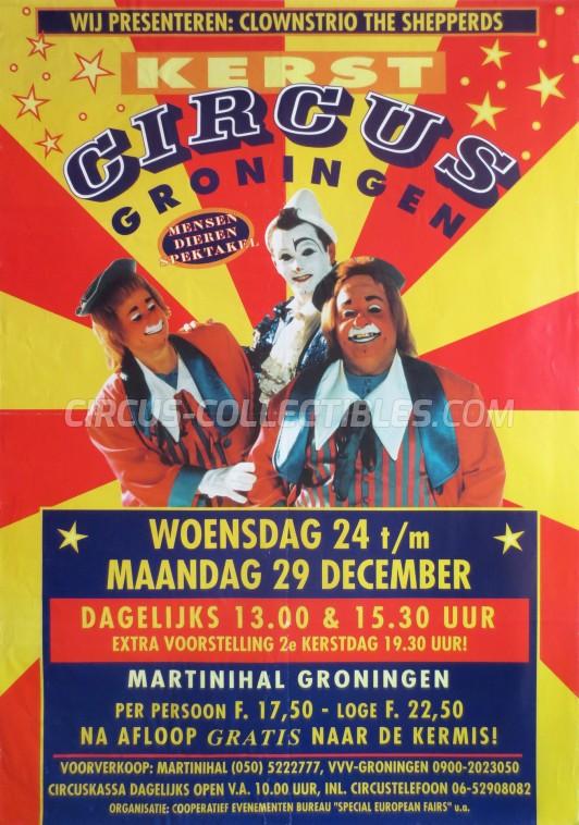 Kerstcircus Circus Poster - Netherlands, 1997