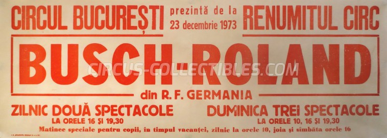 Busch-Roland Circus Poster - Germany, 1973