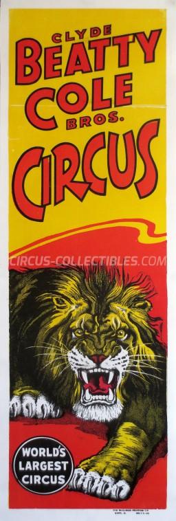 Clyde Beatty Cole Bros. Circus Circus Poster - USA, 0