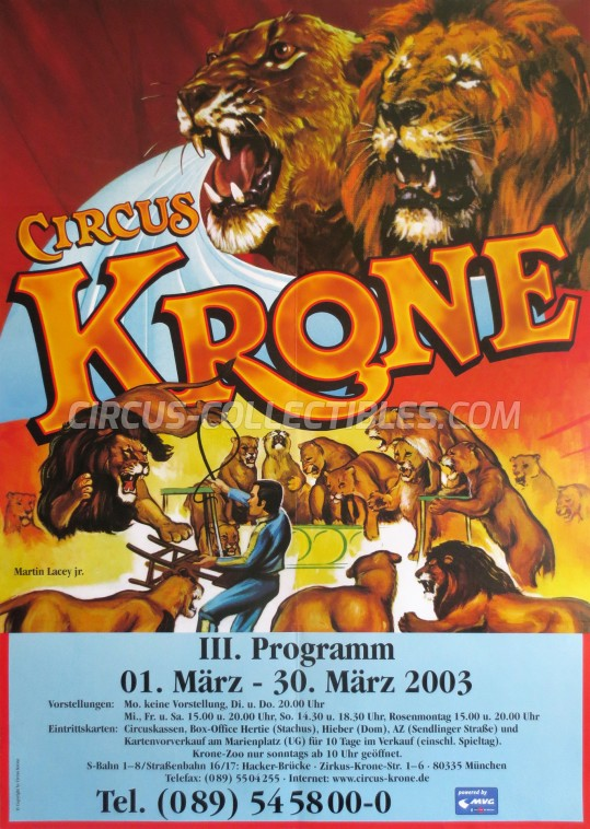 Krone Circus Poster - Germany, 2003
