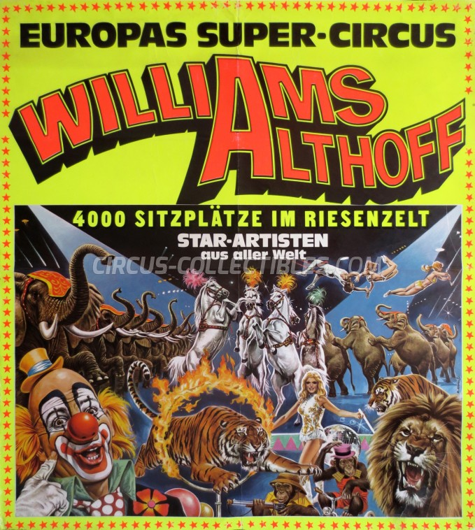 Althoff-Williams Circus Poster - Germany, 1978