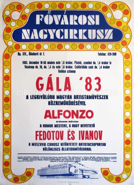 Fovarosi Nagycirkusz Circus Poster - Hungary, 1983