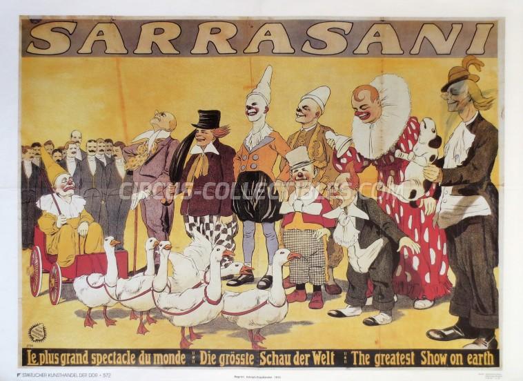 Sarrasani Circus Poster - Germany, 1987